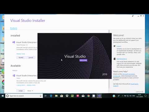 How to Install C# in Visual Studio 2019