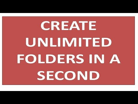 Folder Flood - Create Unlimited Folders in a Second