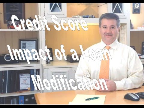 How will a loan modification impact my credit report?