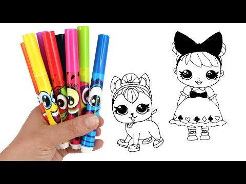 LOL Surprise Drawing & Opening LOL Doll Curious QT LOL Pets Spicy Kitty Toys How to Draw for Kids