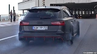 750HP Audi RS6 PP-Performance Tire Smoking AWD Launch Burnout!!