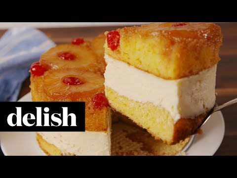 How to Make Pineapple Upside-Down Cheesecake | Recipe | Delish