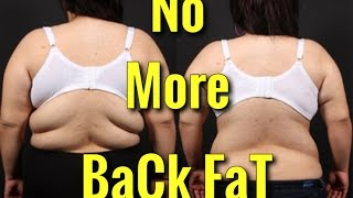 How To Lose Back Fat Top 4 Exercises