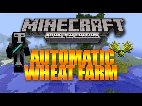 Minecraft Xbox 360: Ep:10- How To Make an Automatic Wheat Farm!