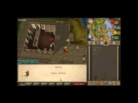 Runescape - Stewie2005's Pet Monkey + Dialogue