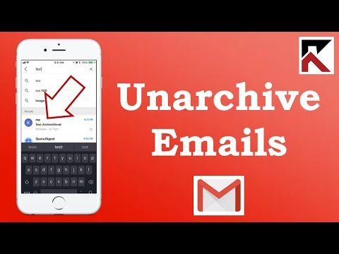 How To Unarchive Emails Gmail iPhone