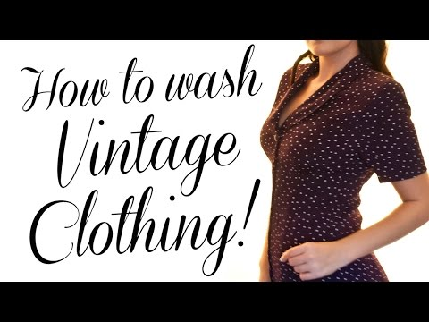 HOW TO: Wash Vintage Clothing