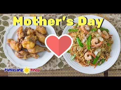 Filipino Fried Chicken and Pancit Canton