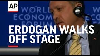 Turkish PM Erdogan walks off stage in clash over Gaza