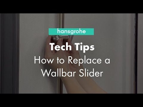 Hansgrohe Tech Tips: How to Replace a Wallbar Slider