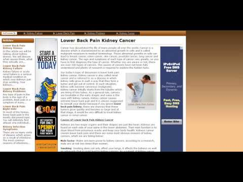 Lower Back Pain Kidney - All About Kidney Stones and how to get rid of them.