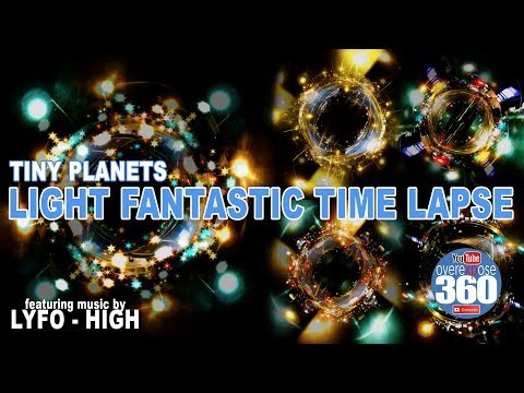 Tiny Planet Time-lapse - Drive the Light Fantastic - Single continuous time-lapse