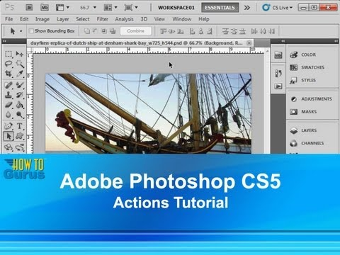 Adobe Photoshop CS5 Actions Tutorial : How to Use Photoshop Actions Sets