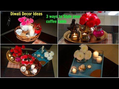 3 Easy Diwali Decoration Ideas | Decorate Centre Table | Organizopedia