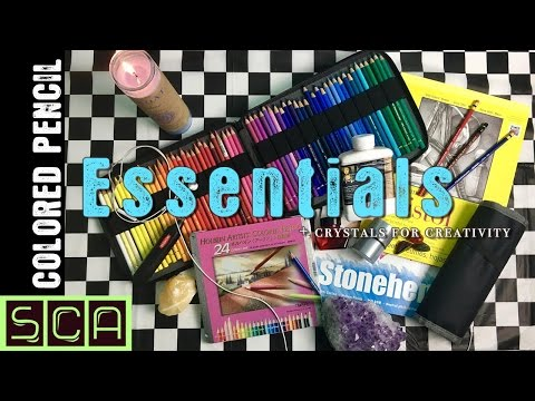 COLORED PENCIL ESSENTIALS  For The Soulful Artist & Crystals For Creativity!!