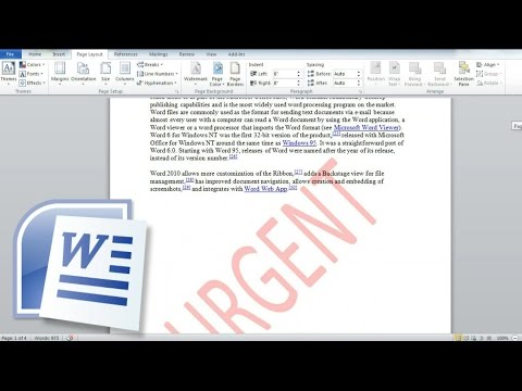 How To Insert a Watermark In Word and Create a Custom Watermark Word Page