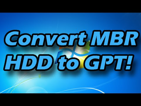 How to convert your hard drive from MBR to GPT