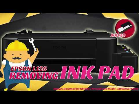 REMOVING INK PAD - EPSON L120 ( Cleaning Ink Pad )