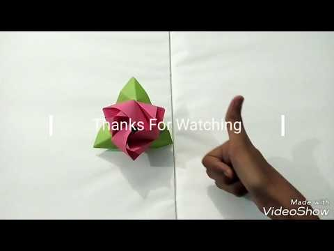 How to make an Origami magic rose cube 2017