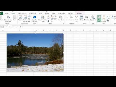How to Make Text Over Images With Microsoft Excel : Microsoft Excel Help