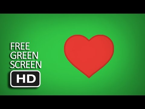 Free Green Screen - Heart Emoji