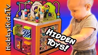 HobbyGator and HobbyAunty review this fun Zany Zoo activity center and find the hidden surprise toys! Click here to Subscribe: http://www.youtube.com/subscription_center?add_user=HobbyKidsTV New videos everyday! Please THUMBS UP, SHARE and SUBSCRIBE. ---TOY VIDEOS--- World