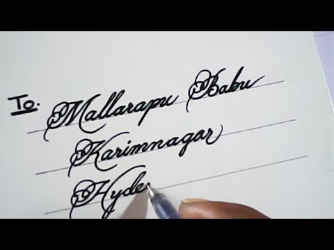 How to write awesome hand writing on invitation cards | Mazic Writer