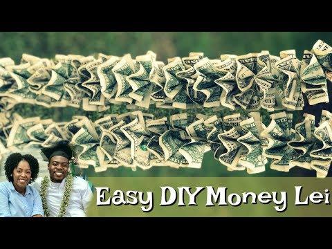 EASY DIY MONEY LEI FOR ANY CELEBRATION!