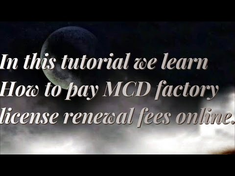 How to pay Delhi MCD factory license fees online(Delhi Property tax online payment)