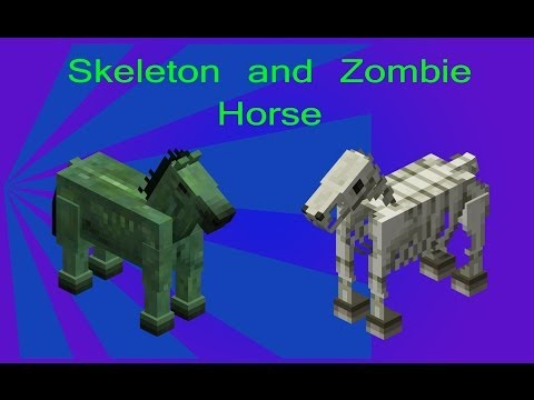 How To Spawn a Skeleton and Zombie Horse in Minecraft