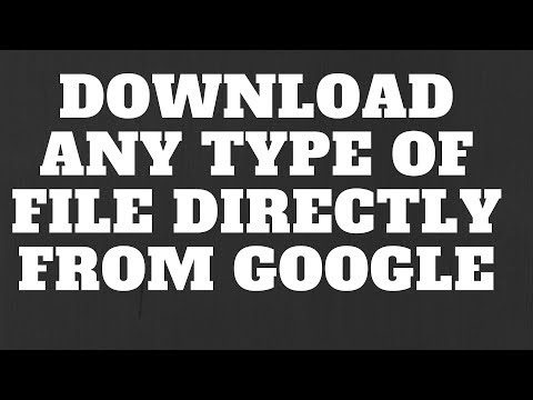 Download Any Type of Files (PDF, DOC, PPT, XLSX, DOCX) Directly From Google- Hindi