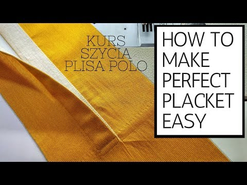 how to make perfect placket easy [for t shirt method] ✂ ✂ ✂
