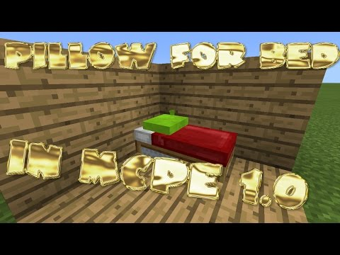 How to make a bed with a colorful pillow in MCPE 1.0!!!!