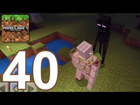 Minecraft: Pocket Edition - Gameplay Walkthrough Part 40 - Iron Golem vs Enderman (iOS, Android)