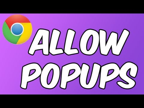 How to: Allow Popups in Google Chrome ~ iPad | iPhone | iPod touch