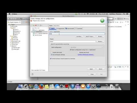 Managing Eclipse Run Configurations on a Mac