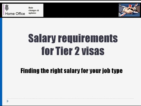 Salary requirements for Tier 2 Visas explained - the codes of practice