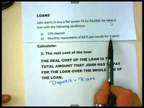 Maths Lit Basics - Gr12 - Loans