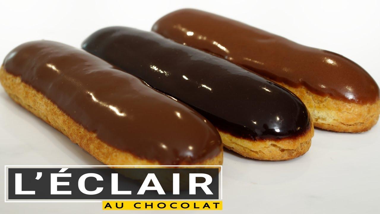 L'éclair au chocolat (forme parfaite et 3 types de glaçage)