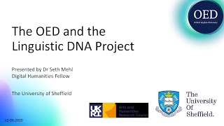 The OED and the Linguistic DNA Project