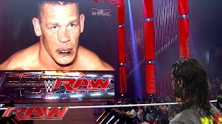 "Seth Rollins has a heated war of words with ""John Cena"": Raw, Aug. 10, 2015"