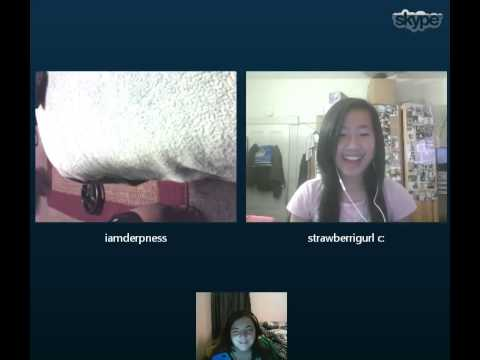 Skype call with friends