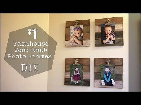$1 Farmhouse Wood Wash Frames  DIY - Easy and Inexpensive