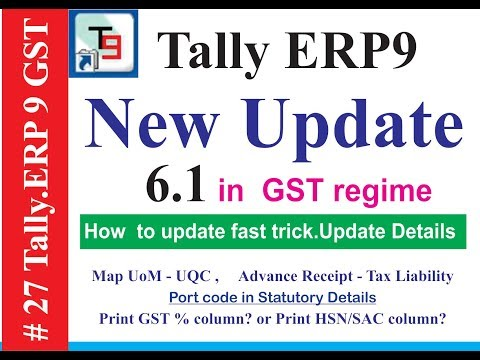 New  UPDATE  tally ERP9 6.1 GSTR-1 (DOWNLOAD IT) Fast trick do download