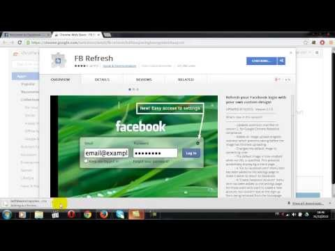 How you can change the background of the login page of Facebook to become more attractive