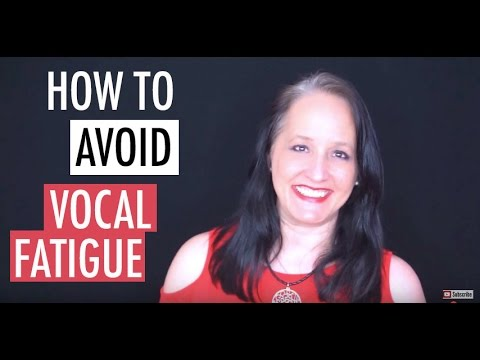 How to  Avoid Vocal Fatigue | Tired Singing Voice
