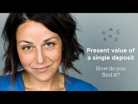 Present value of a single deposit, compounded continuously - How do you find it?