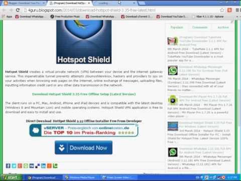 Free VPN Hotspot Shield 6.1.5 Download For Windows Full Offline Installer