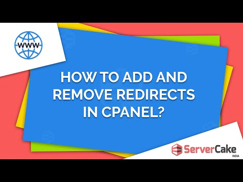 How to add and remove Redirects in cPanel - ServerCake India