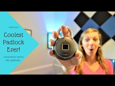 Tapplock - Review - World's First Smart Fingerprint Padlock!